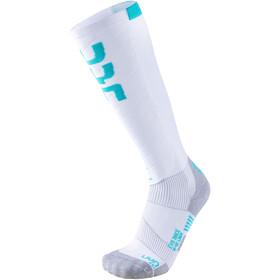 UYN Evo Race Calcetines de esquí Mujer, blanco/azul